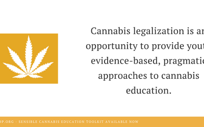 What we mean by 'sensible' cannabis education
